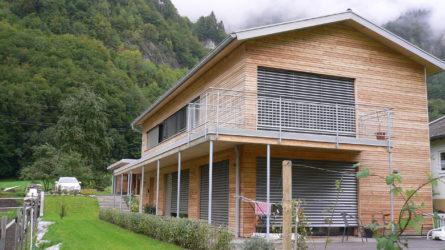 Referenz Dorfinstallateur Innerbraz Einfamilienhaus Heizung Pellets