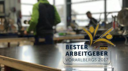 Dorfinstallateur ist Bester Arbeitgeber Vorarlbergs 2017 Trophäe